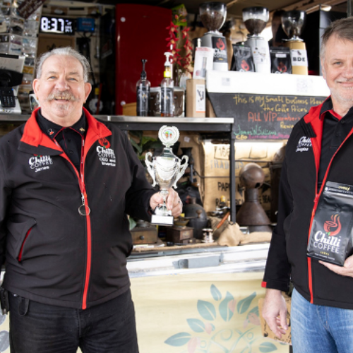 Chilli Coffee receives first award after just 7 weeks in business!